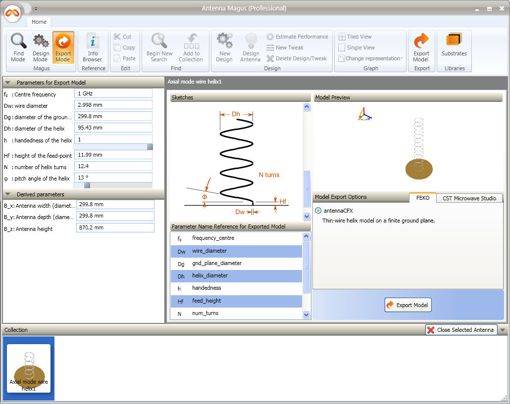 Helix Antenna Design with Antenna Magus and FEKO - Altair