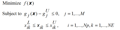 Optimization problem stated mathematically