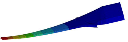 Composite wing model of a wide body aircraft under cruise loading