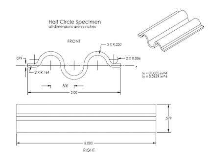 CMH-17 - Half Circle Specimen