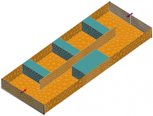 Waveguide filter with dielectric blocks