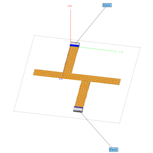 microstrip filter CADFEKO model