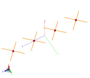four element crossed dipole array