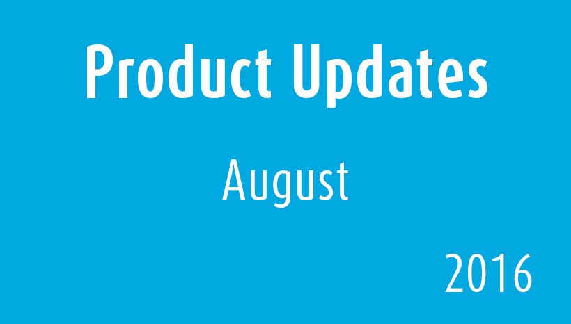 Product Updates-August2016