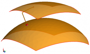 spherically conformed patch antenna