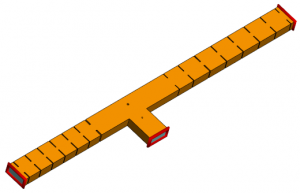 FEKO model of diplexer