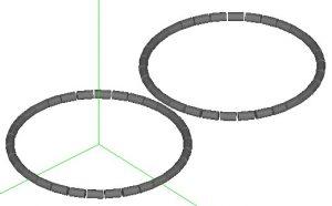 Non-overlapping coils