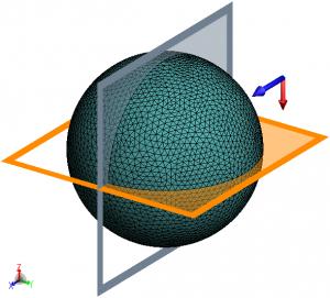 CADFEKO model of hollow sphere