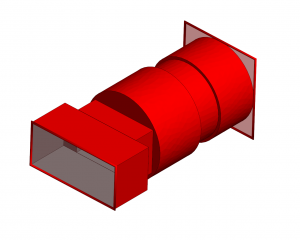 WR137 rectangular waveguide to circular waveguide
