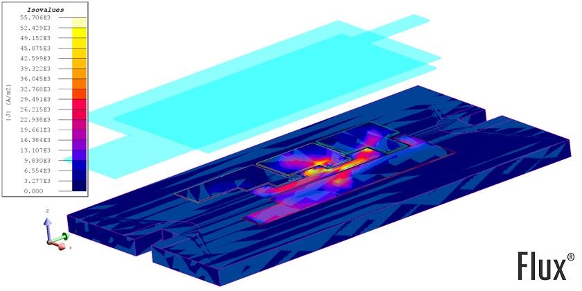 Power module parasitic current flow heat speader
