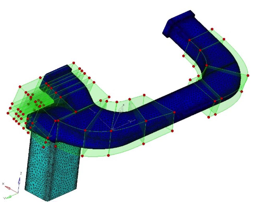 Figure 4: Model used in optimization for uniform ventilation.