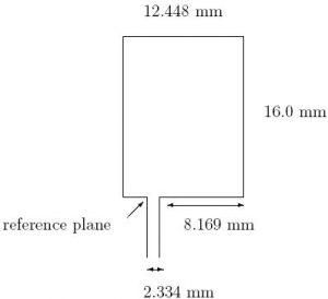 Edge-fed rectangular antenna geometry