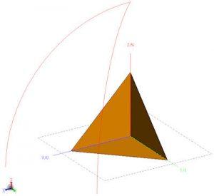 Corner reflector from an 8 lambda cube