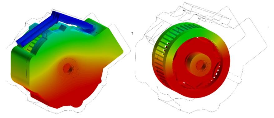 Motor Temperature distribution analysis AcuSolve